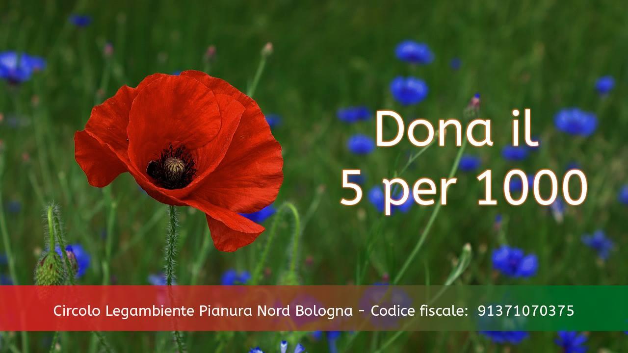 Cinque per mille Legambiente Pianura Nord Bologna