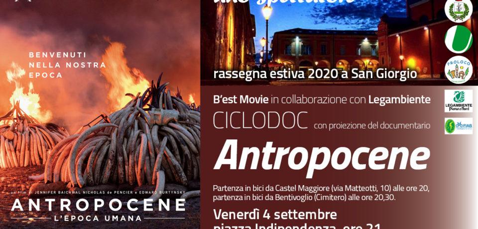 Biciclettata e film Antropocene – L'epoca umana