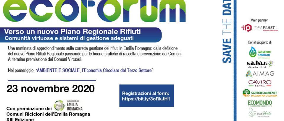 Ecoforum 2020 e Comuni Ricicloni
